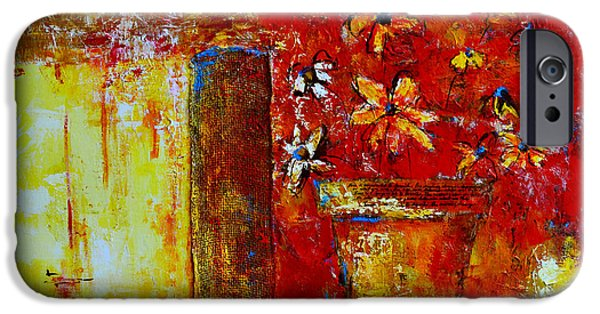 Abstract Expressionist Mixed Media iPhone Cases - Love Is Abstract iPhone Case by Patricia Awapara