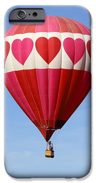 Hot Air Balloons iPhone Cases - Love is in the Air iPhone Case by Mike McGlothlen