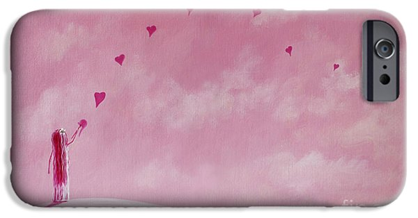 Little Girl iPhone Cases - Love Is The Best Forever Gift Collection by Shawna Erback iPhone Case by Shawna Erback