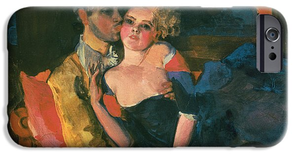 Relationship Paintings iPhone Cases - Love iPhone Case by Konstantin Andreevic Somov