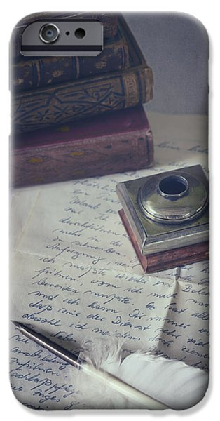Quill iPhone Cases - Love Letter iPhone Case by Joana Kruse