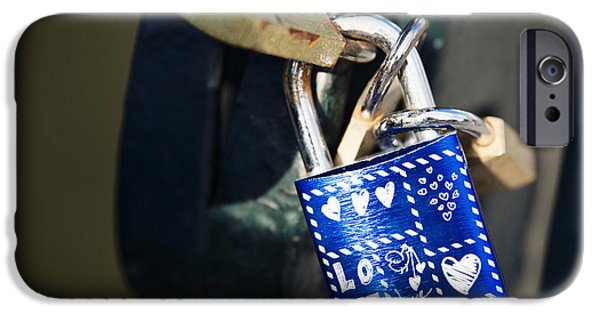 Forever iPhone Cases - Love locks iPhone Case by Jane Rix
