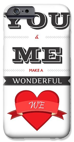 Gift Digital Art iPhone Cases - Love Lyrics Quotes Typography iPhone Case by Lab No 4 - The Quotography Department