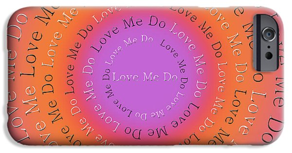 Beatles iPhone Cases - Love Me Do 2 iPhone Case by Andee Design