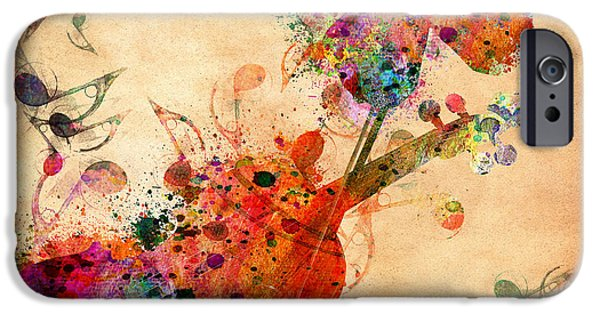 Orsillo Digital iPhone Cases - Love Music  iPhone Case by Mark Ashkenazi