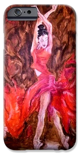 Michelle iPhone Cases - Love of the Dance in flight iPhone Case by Michelle Reid