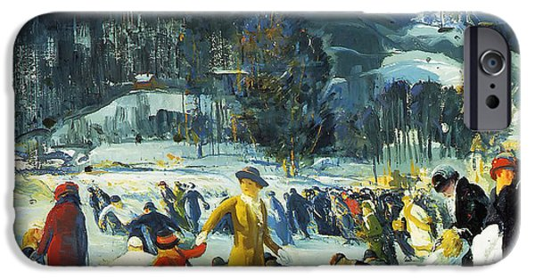 Concept Paintings iPhone Cases - Love of Winter 1914 iPhone Case by Bellows