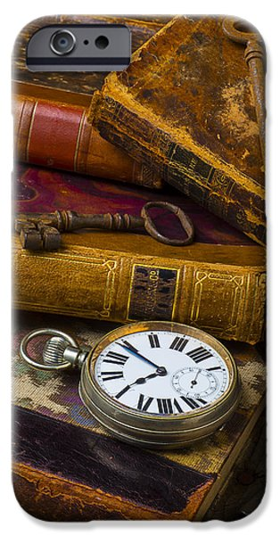 Shape iPhone Cases - Love old books iPhone Case by Garry Gay