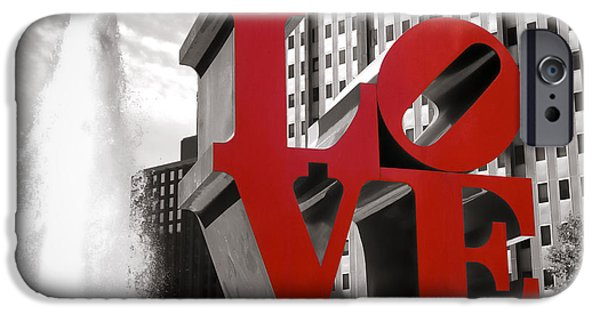 Sculpture iPhone Cases - Love iPhone Case by Olivier Le Queinec