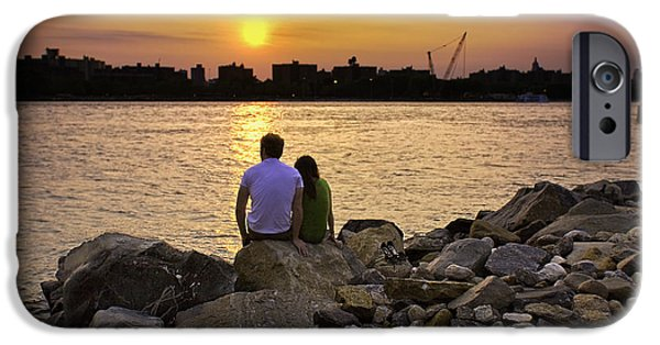 River View iPhone Cases - Love On The Rocks In Brooklyn iPhone Case by Madeline Ellis