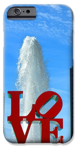 Center City iPhone Cases - LOVE Park iPhone Case by Olivier Le Queinec