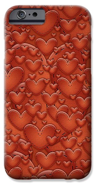 Love Patches iPhone Case by Gianfranco Weiss