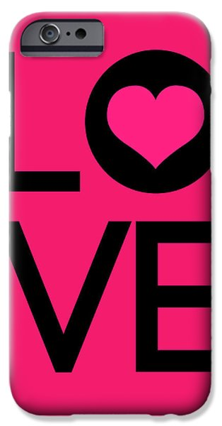 Motivational Poster iPhone Cases - Love Poster 5 iPhone Case by Naxart Studio