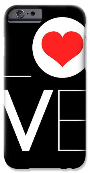 Gig iPhone Cases - Love  Poster 7 iPhone Case by Naxart Studio
