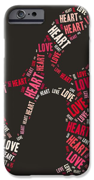 Love Quatro Heart - s111b iPhone Case by Variance Collections