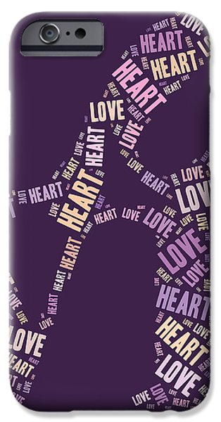 Love Quatro - Heart - s77a iPhone Case by Variance Collections