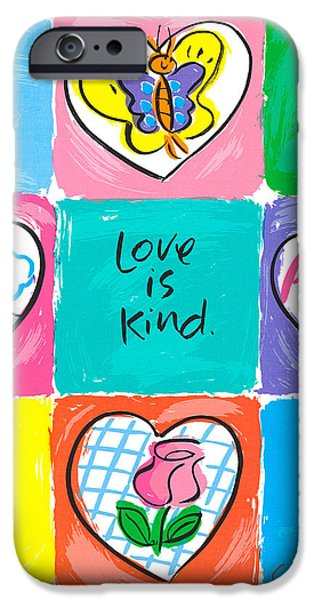 Sally Huss iPhone Cases - Love Quilt iPhone Case by Sally Huss