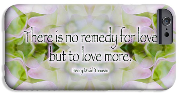 Henry David Thoreau iPhone Cases - Love Remedy - Thoreau iPhone Case by Susan Bloom