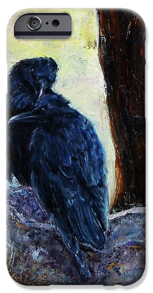 Crows iPhone Cases - Love Season I iPhone Case by Xueling Zou