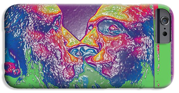Digitally Signed Mixed Media iPhone Cases - LOVE SELF EVIDENT aka Portrait of Flap Jack Stevens iPhone Case by Feile Case