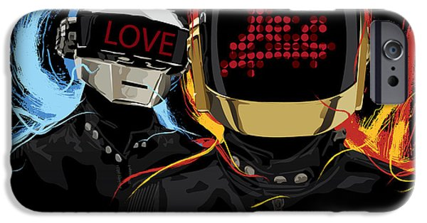 Daft Punk iPhone Cases - Love Tec iPhone Case by Tecnificent