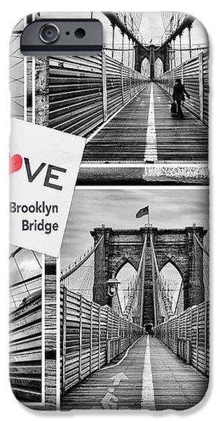 Love the Brooklyn Bridge iPhone Case by John Farnan