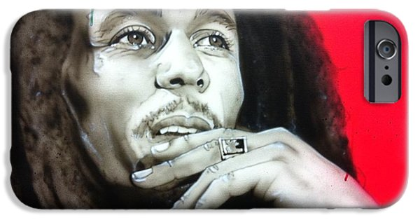 Famous Musician iPhone Cases - Love the Life You Live - Live the Life You Love iPhone Case by Christian Chapman Art
