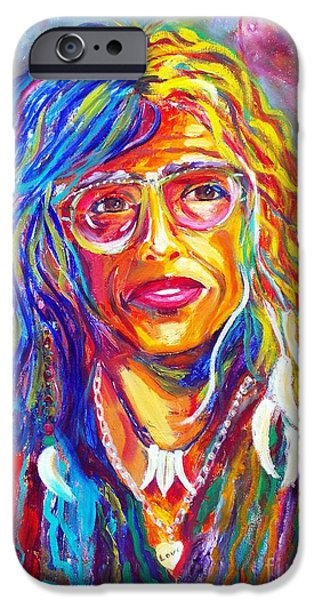 Steven Tyler Paintings iPhone Cases - Love iPhone Case by To-Tam Gerwe