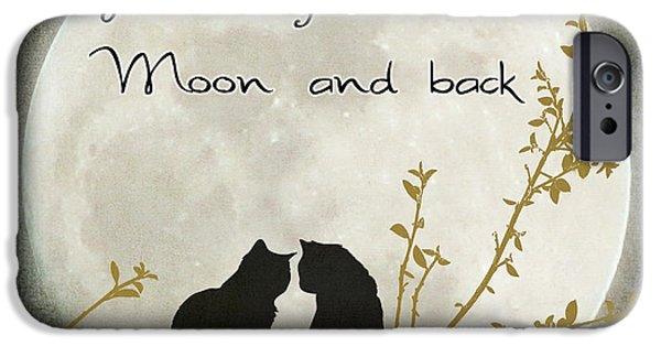 Lindalees iPhone Cases - Love you to the moon and back iPhone Case by Linda Lees