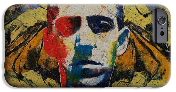 Michael Paintings iPhone Cases - Lovecraft iPhone Case by Michael Creese