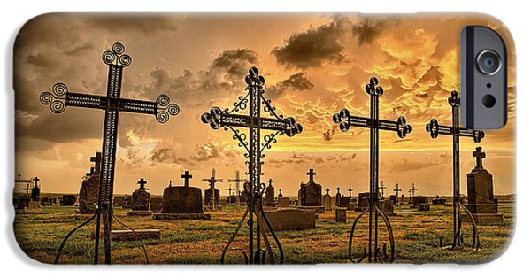 Cemetery iPhone Cases - Loved Ones iPhone Case by Thomas Zimmerman