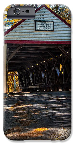 Lovejoy Covered Bridge iPhone Case by Bob Orsillo
