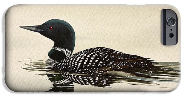 Loon iPhone Cases - Loveliest of Nature iPhone Case by James Williamson