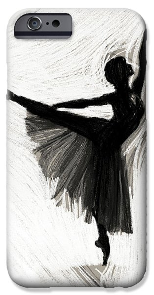 Ballerina Drawings iPhone Cases - Lovely Dancer iPhone Case by Stefan Kuhn