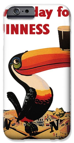 Decorative Digital Art iPhone Cases - Lovely Day for a Guinness iPhone Case by Nomad Art And  Design