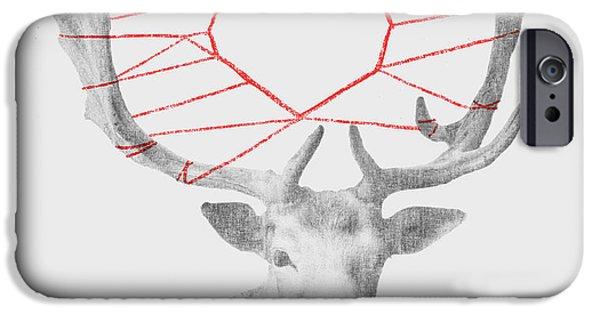 Strings Digital iPhone Cases - Lovely Deer iPhone Case by Budi Kwan