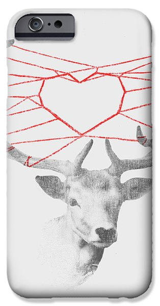 Lovely Deer iPhone Case by Budi Satria Kwan