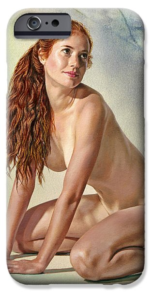 Figures Paintings iPhone Cases - Lovely Muse iPhone Case by Paul Krapf