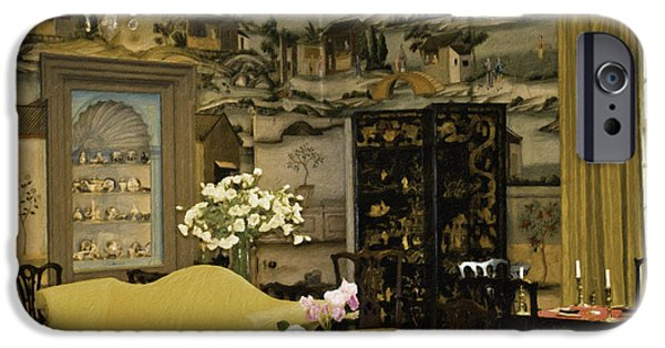 Table Wine Mixed Media iPhone Cases - Lovely Room At Winterthur Gardens iPhone Case by Trish Tritz
