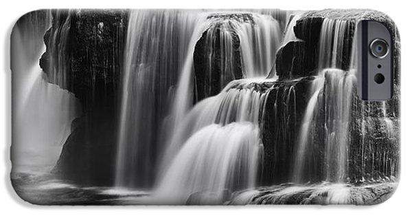 Autumn iPhone Cases - Lover Lewis Falls Panorama iPhone Case by Mark Kiver