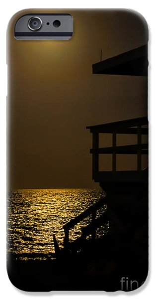 Sea Moon Full Moon iPhone Cases - Lovers Moon iPhone Case by Rene Triay Photography