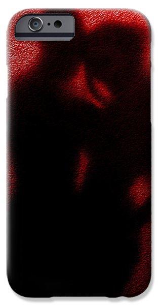 Teri Schuster Female iPhone Cases - Lovers  secret embrace iPhone Case by Teri Schuster