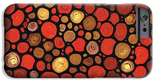 Red Abstract iPhone Cases - Lovers iPhone Case by Sharon Cummings