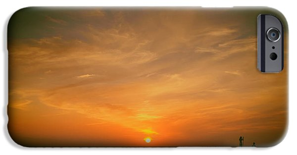 Women Together iPhone Cases - Lovers Sunset iPhone Case by Jens Mayer