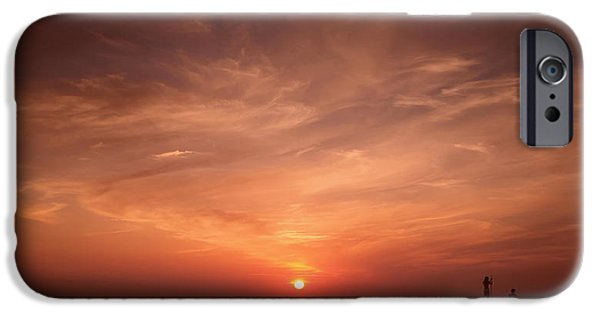 Women Together iPhone Cases - Lovers Sunset iPhone Case by Mountain Dreams