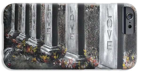 Grave Yard iPhone Cases - Loves Silent Echoes iPhone Case by Carla Carson