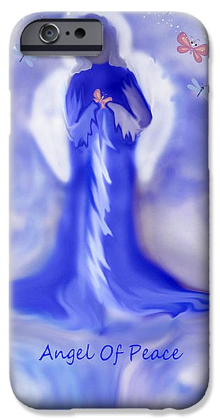 Loving Angel of Peace iPhone Case by Sherri  Of Palm Springs
