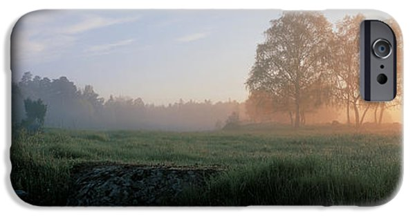 Mist iPhone Cases - Lovo Uppland Sweden iPhone Case by Panoramic Images