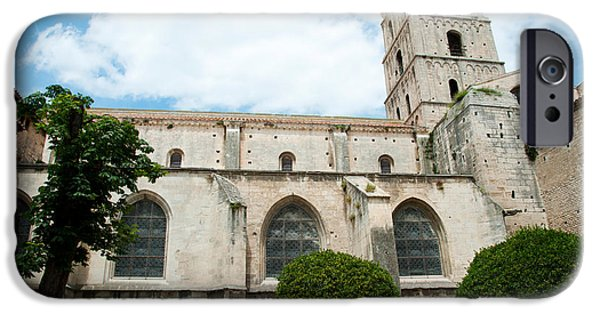 Arles iPhone Cases - Low Angle View Of A Bell Tower, Church iPhone Case by Panoramic Images