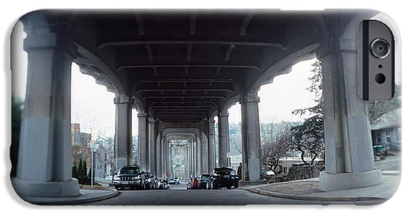 Connection iPhone Cases - Low Angle View Of A Bridge, Fremont iPhone Case by Panoramic Images